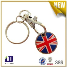 Custom High quality round metal keychain
