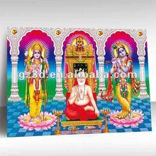 India hermosa mujer de 3d hindú dios