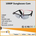1080P HD wireless hd sport glasses camera, sunglasses camera with wifi and mobile app
