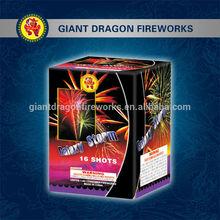 Chinese fireworks Galaxy storm 16 shots cracker bomb fireworks