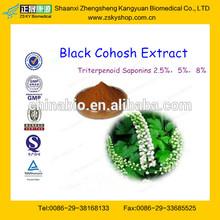 GMP Manufacture Supply 100% Natural Black Cohosh P.E. Triterpen Saponin