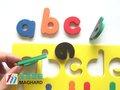 قطع متعددة الالوان التعلم المبكر 26 الحروف الأبجدية الإملائي اللعب المغناطيسية