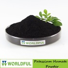Super potassium humate fertilizer, 100% water soluble potassium humate powder