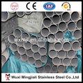 201 202 304 açoinoxidável tubos soldados peso