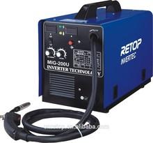 MIG-205 high quality CE igbt inverter mig welding wire feeder