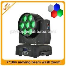 Mini led moving head ZOOM Beam+wash 7X15W RGBW 4in1 led moving head light