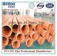 110mm Orange colored sewage pvc pipe