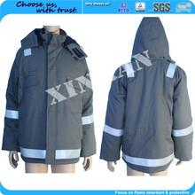 Proteção solar de fogo retardador apagão amostra grátis 220GSM laranja barato caldeira blusas para as mulheres uniformes
