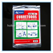 Impermeable a prueba de polvo fábrica que vende directamente de plástico cubierta de colchón / plástico colchón cubierta / cubierta de plástico