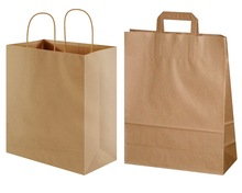 Strong Recycled Brown Kraft Paper Bag for Shopping, Carrier, Grocery