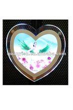 2012 Heart shaped slim acrylic photo frame