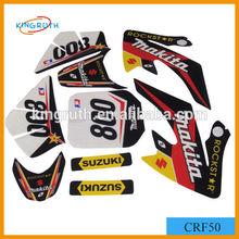 China CRF50 dirt bike chrome sticker motorcycle