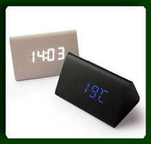 table clock hot sales ODM OEM wooden antique led table clock