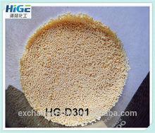 D301 macroporous weak basic styrene type anion exchange resin