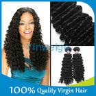 "10pcs lot 30"" 6a grade virgin weaving 100% human hair,AAAAAA quality Brazilian deep wave human hair"