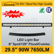 """29.5"""" 7650LM 90W led driving bar light made in china"""