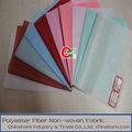 De color rosa/azure/rojo/apple/verde/marrón/laminado blanco de poliéster no tejido de la tela