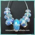 sıcak satış çekici laboratuar oluşturulmuş polar döngüler rondelle opal kolye
