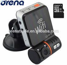 HD Car DVR/black box +GPS+WIFI +hidden camera +8gb/16gb/32gb/64gb Micro SD card