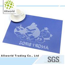 High quality non toxic eco friendly PVC kids table mats
