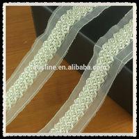 wholesale fancy white cross sequin beaded lace