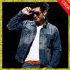 2015 long sleeve men jeans jacket,100%cotton plus size men jeans coat,OEM most popular wash men jean coat