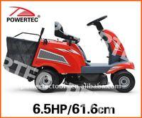 POWERTEC 6.5HP 24.3in mini ride on lawn mower tractor