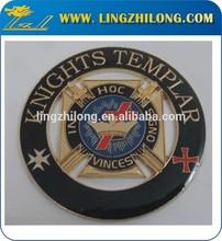 Knights masonic car emblem,masonic cut out auto emblems,maosic knight badge