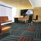 Multi Level Loop Pile Tufted PP Nylon Commercial Carpet Tiles Waterproof China Supplier