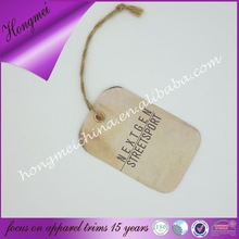 personalized garment hang tags with eyelet and string for clothing