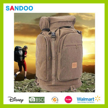 Fashion large capacity 50L-70L outdoor hiking travel bag, colorful canvas camping bag