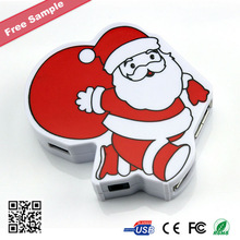 Promotional Christmas Gift Santa Clause Shape USB 3.0 Hub