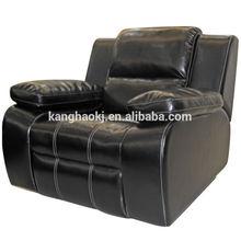 Single Seat Sofa, massage function leather sofa , classic and modern wood sofa