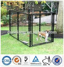 Heavy duty galvanized steel welded Hot sale 5' x 10' x 6' large outdoor best best kennel dog wholesale