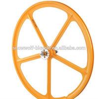 2014 alloy rim aero spoke wheel for road bike / fixed gear bike