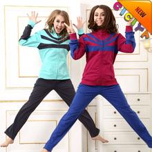 Winter running clothing set women active knitted sportswear fantastic pajamas set in sportswear
