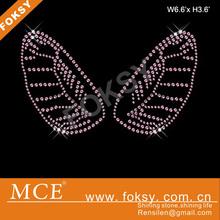 Good quality hotfix iron ons rhinestone motif cute wings