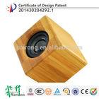 Hairong high quality portable cube legoo mini bamboo bluetooth speaker