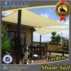 HDPE fabric sail sun shade canopy for garden