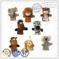 Eco- ambiente de venta más caliente felices los niños juguete de los animales del zoológico dedo marioneta