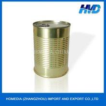 Golden coating empty tins