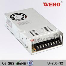 WEHO high quality 250W Single output power supply 12v 20a led driver smps