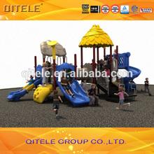 2015 plastic slide and children playground equipment