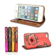 Wallet Genuine Leather Cover for iphone 5 case Stand For apple iphone 5c<itemNO.:SACI0001I>