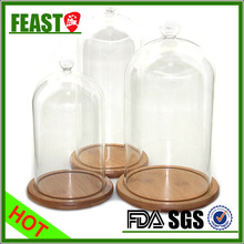2015 NEW products glass dome with base HOT selling glass cake dome CHEAP wholesale glass dome