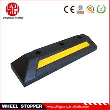 oblique angle Rubber Wheel Stopper