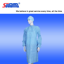 Hospital doctor's sterile disposable surgical gown