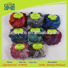 marketing super cheap flower yarn from Jiangsu factory