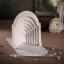 hot sale wedding invitation card 3d folding card CW3079