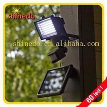 60pcs LED PIR security solar light outdoor